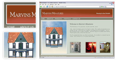Marvins Miniatures Site Design